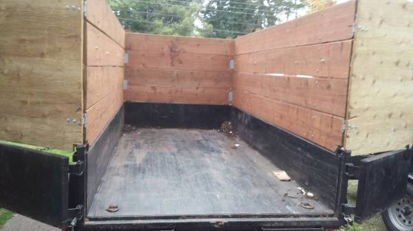 "6x12x5'6"" Dump Trailer. Good for big loads of junk or yard waste."